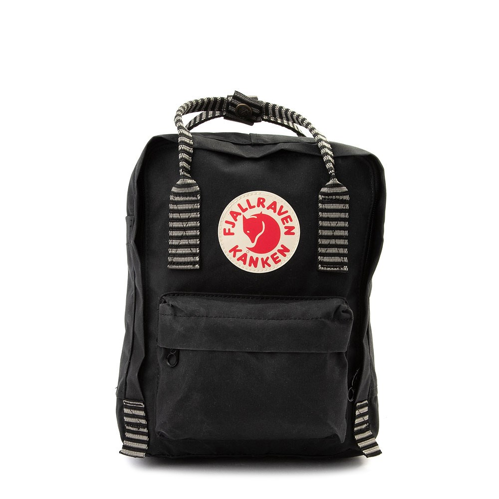 Fjallraven Kanken Mini Backpack - Black / White