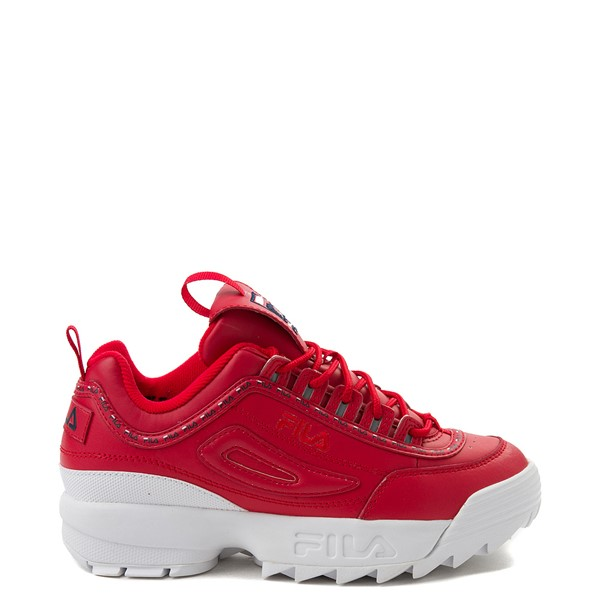 Womens Fila Disruptor 2 Premium Athletic Shoe - Red
