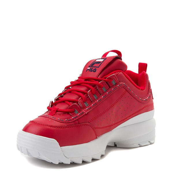 alternate view Womens Fila Disruptor 2 Premium Athletic Shoe - RedALT2