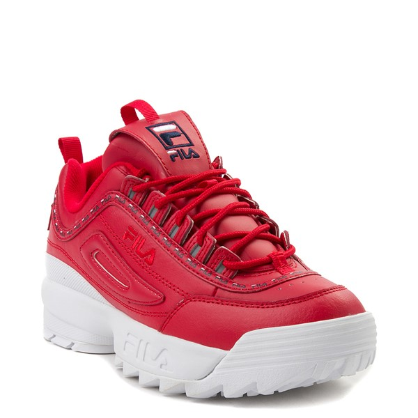 alternate view Womens Fila Disruptor 2 Premium Athletic Shoe - RedALT5
