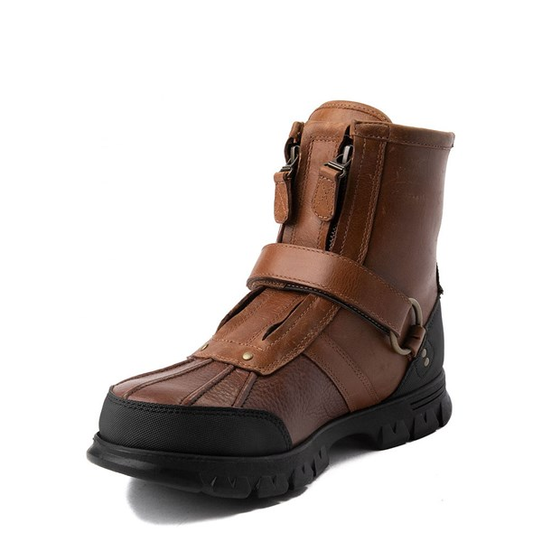 alternate view Mens Conquest Hi Boot by Polo Ralph Lauren - BrownALT3