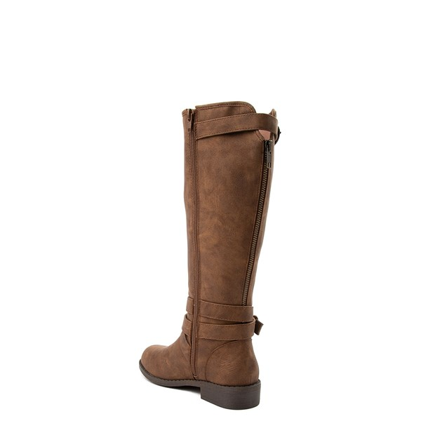 alternate view Madden Girl Karmin Riding Boot - Little Kid / Big Kid - BrownALT2