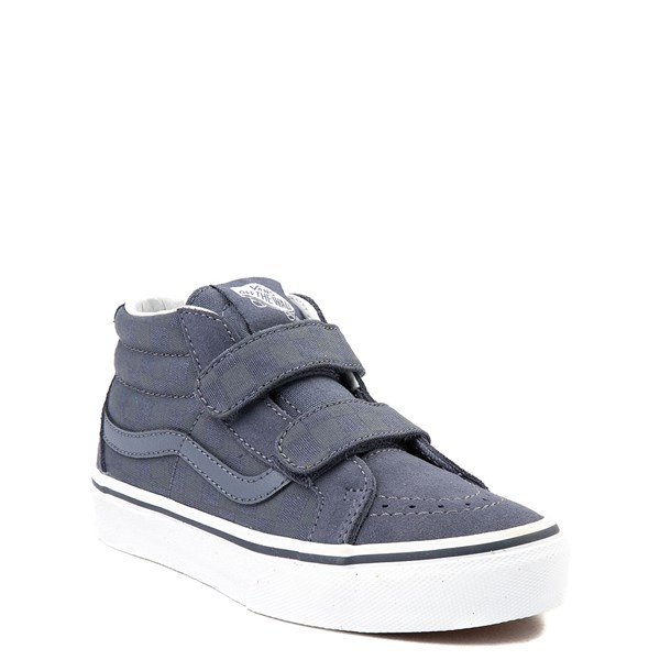 Alternate view of Vans Sk8 Mid Reissue V Gray Chex Skate Shoe - Little Kid / Big Kid