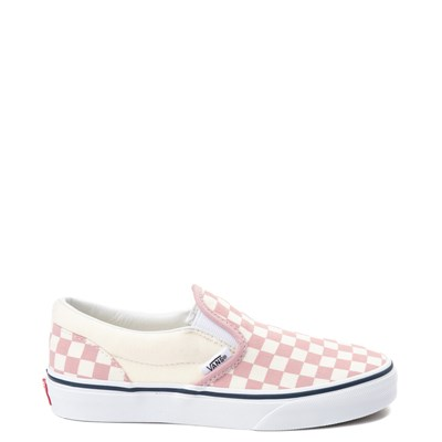 Youth Vans Slip On Pink and White Chex Skate Shoe