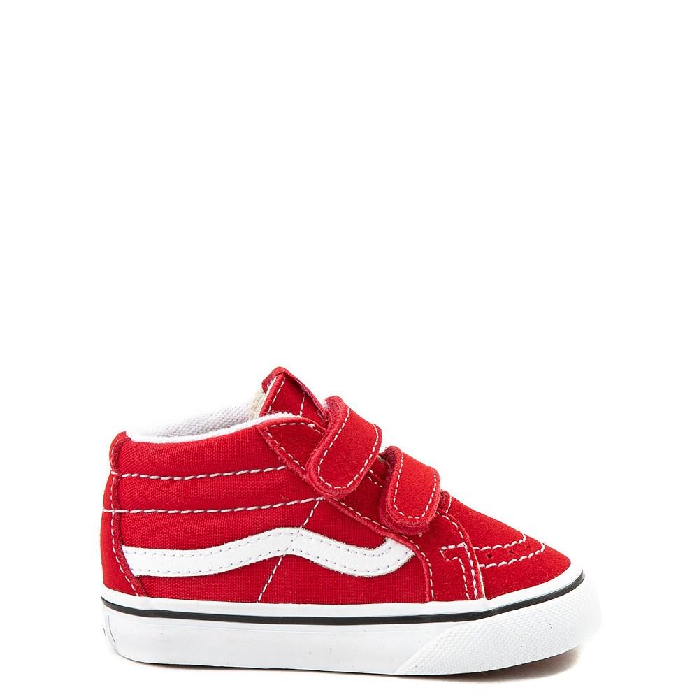 Toddler Red Vans Sk8 Mid Reissue V Skate Shoe