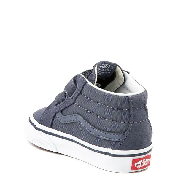 alternate view Vans Sk8 Mid Reissue V Gray Checkerboard Skate Shoe - Baby / ToddlerALT2