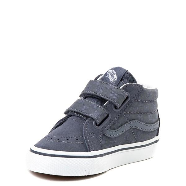 alternate view Vans Sk8 Mid Reissue V Gray Checkerboard Skate Shoe - Baby / ToddlerALT3