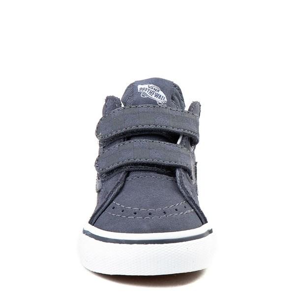 alternate view Vans Sk8 Mid Reissue V Gray Checkerboard Skate Shoe - Baby / ToddlerALT4