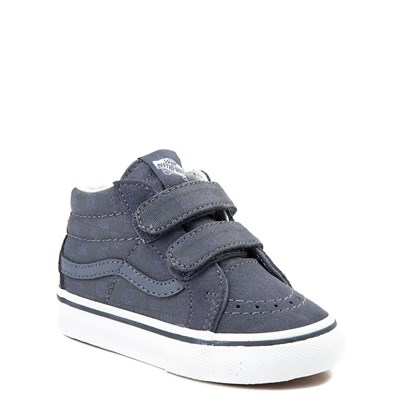 Alternate view of Vans Sk8 Mid Reissue V Gray Chex Skate Shoe - Baby / Toddler