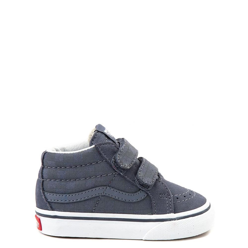 9b6406141e44 Vans Sk8 Mid Reissue V Gray Chex Skate Shoe - Baby   Toddler