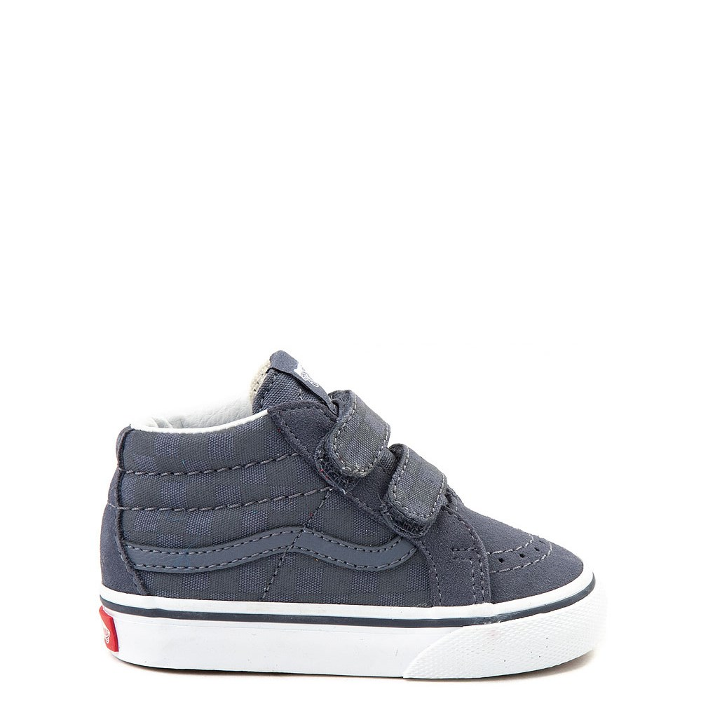 c2dd66a746 Vans Sk8 Mid Reissue V Gray Chex Skate Shoe - Baby   Toddler