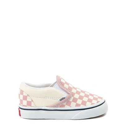 Toddler Vans Slip On Pink and White Checkerboard Skate Shoe
