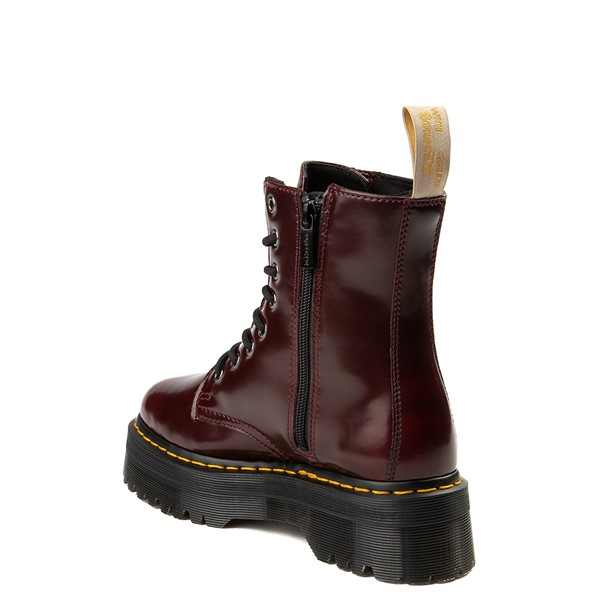 alternate view Dr. Martens Jadon Vegan Boot - BurgundyALT1