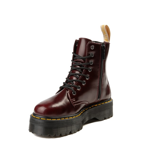alternate view Dr. Martens Jadon Vegan Boot - BurgundyALT2