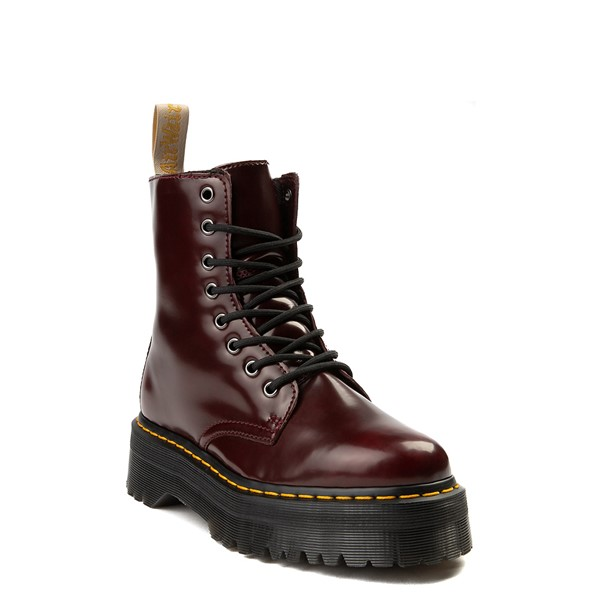 alternate view Dr. Martens Jadon Vegan Boot - BurgundyALT5