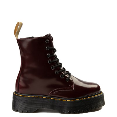 Main view of Dr. Martens Jadon Vegan Boot - Burgundy