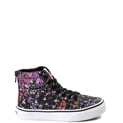 Youth/Tween Vans Sk8 Hi Zip Floral Pop Skate Shoe