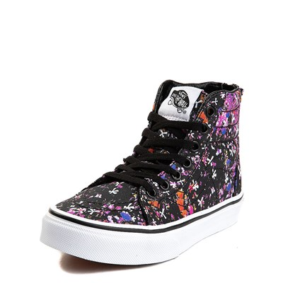 Alternate view of Youth/Tween Vans Sk8 Hi Zip Floral Pop Skate Shoe