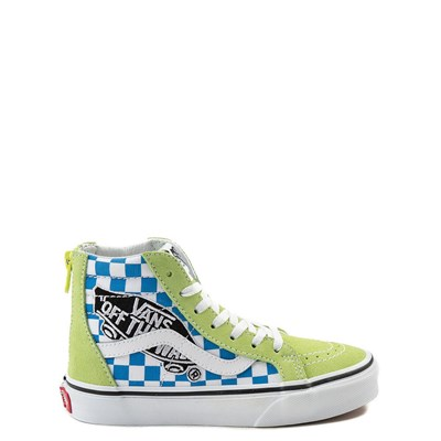 Youth Vans Sk8 Hi Zip Patch Skate Shoe