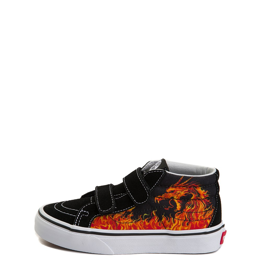 Youth Vans Sk8 Mid Reissue V Dragon Flame Skate Shoe