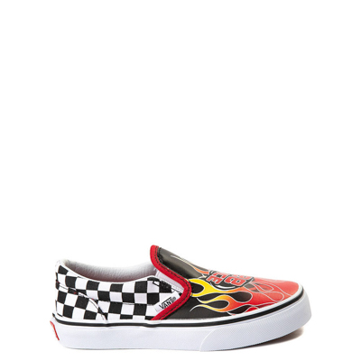 Main view of Youth/Tween Vans Slip On Race Flame Skate Shoe