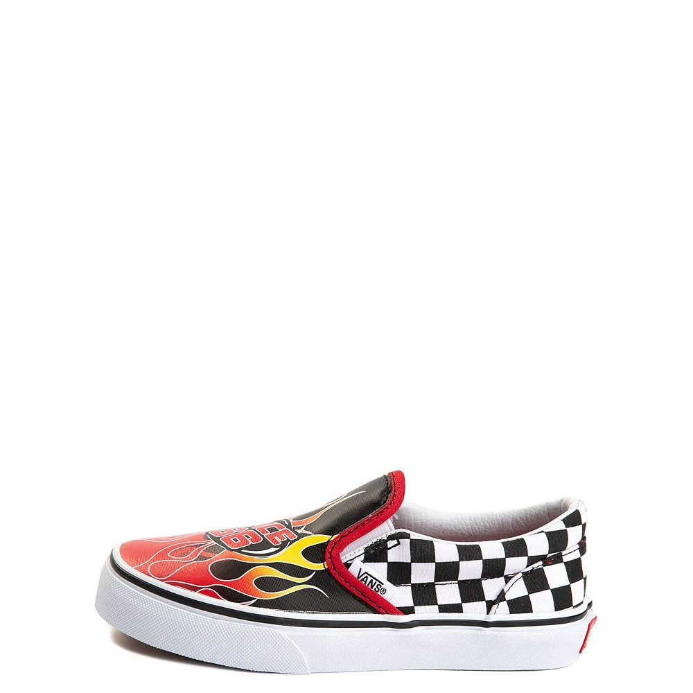 Youth/Tween Vans Slip On Race Flame Skate Shoe