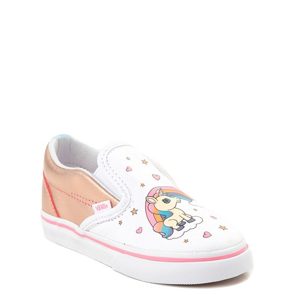 Alternate view of Vans Slip On Unicorn Rainbow Skate Shoe - Baby / Toddler