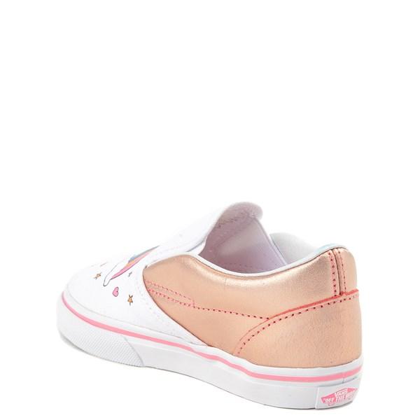 alternate view Vans Slip On Unicorn Rainbow Skate Shoe - Baby / ToddlerALT2