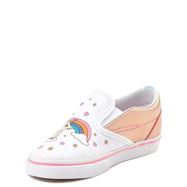 alternate view Vans Slip On Unicorn Rainbow Skate Shoe - Baby / ToddlerALT3