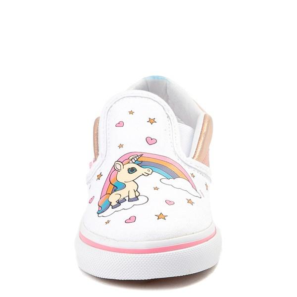 alternate view Vans Slip On Unicorn Rainbow Skate Shoe - Baby / ToddlerALT4