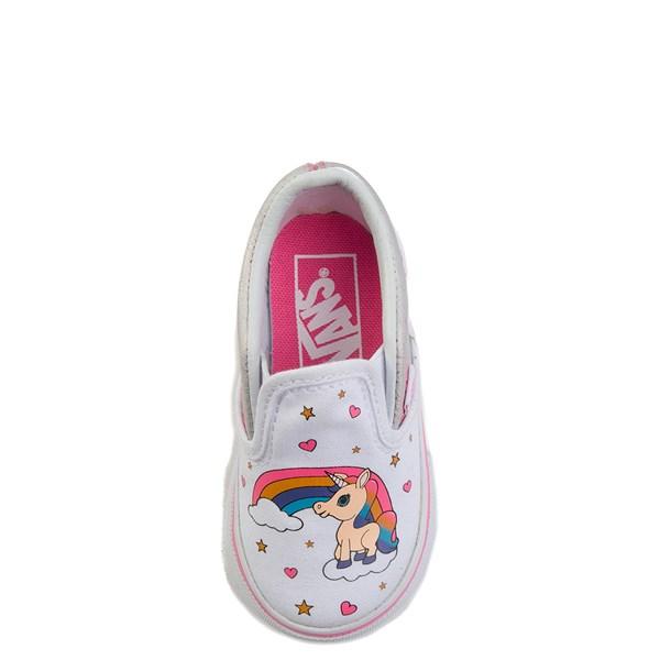 alternate view Vans Slip On Unicorn Rainbow Skate Shoe - Baby / ToddlerALT6