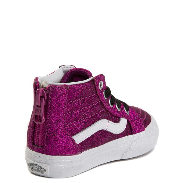 alternate view Vans Sk8 Hi Zip Glitter Skate Shoe - Baby / ToddlerALT2