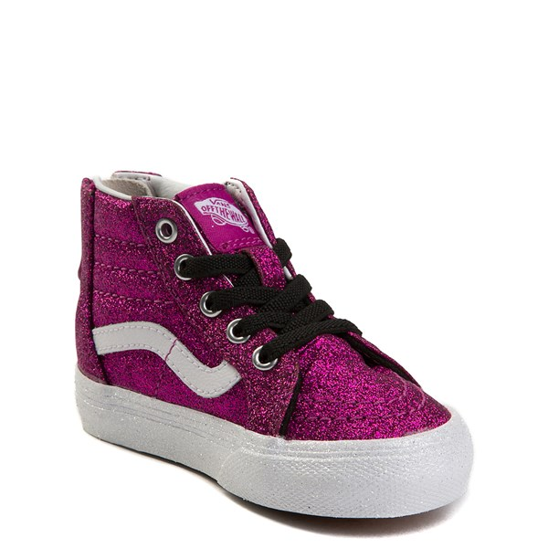 alternate view Vans Sk8 Hi Zip Glitter Skate Shoe - Baby / ToddlerALT3
