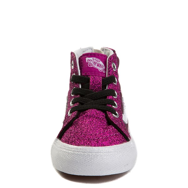 alternate view Vans Sk8 Hi Zip Glitter Skate Shoe - Baby / ToddlerALT4