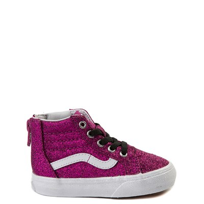 Main view of Vans Sk8 Hi Zip Glitter Skate Shoe - Baby / Toddler