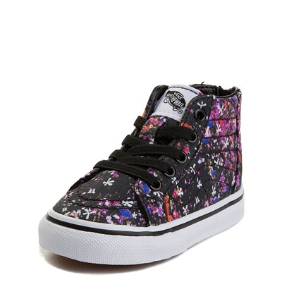 Alternate view of Toddler Vans Sk8 Hi Zip Floral Pop Skate Shoe