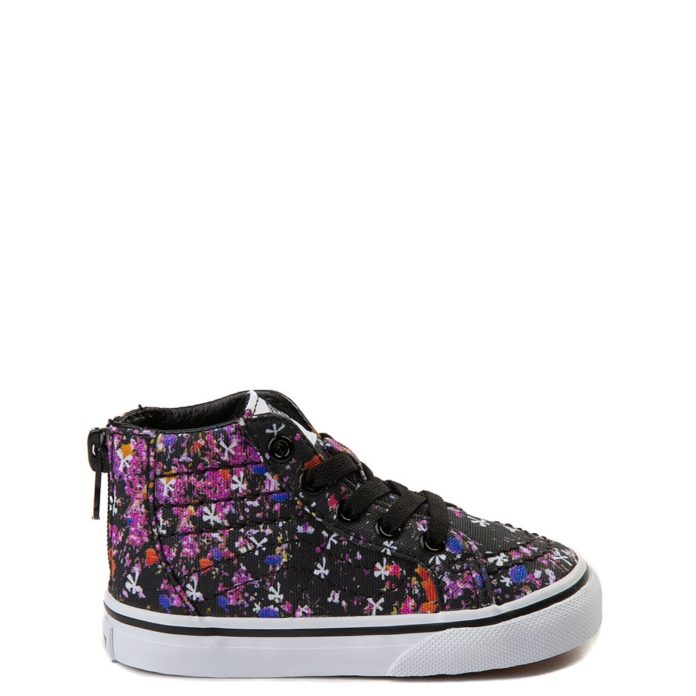 Toddler Vans Sk8 Hi Zip Floral Pop Skate Shoe