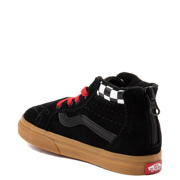 alternate view Vans Sk8 Hi Zip MTE Skate Shoe - Baby / Toddler - Black / RedALT2