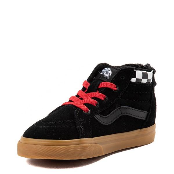 alternate view Vans Sk8 Hi Zip MTE Skate Shoe - Baby / Toddler - Black / RedALT3