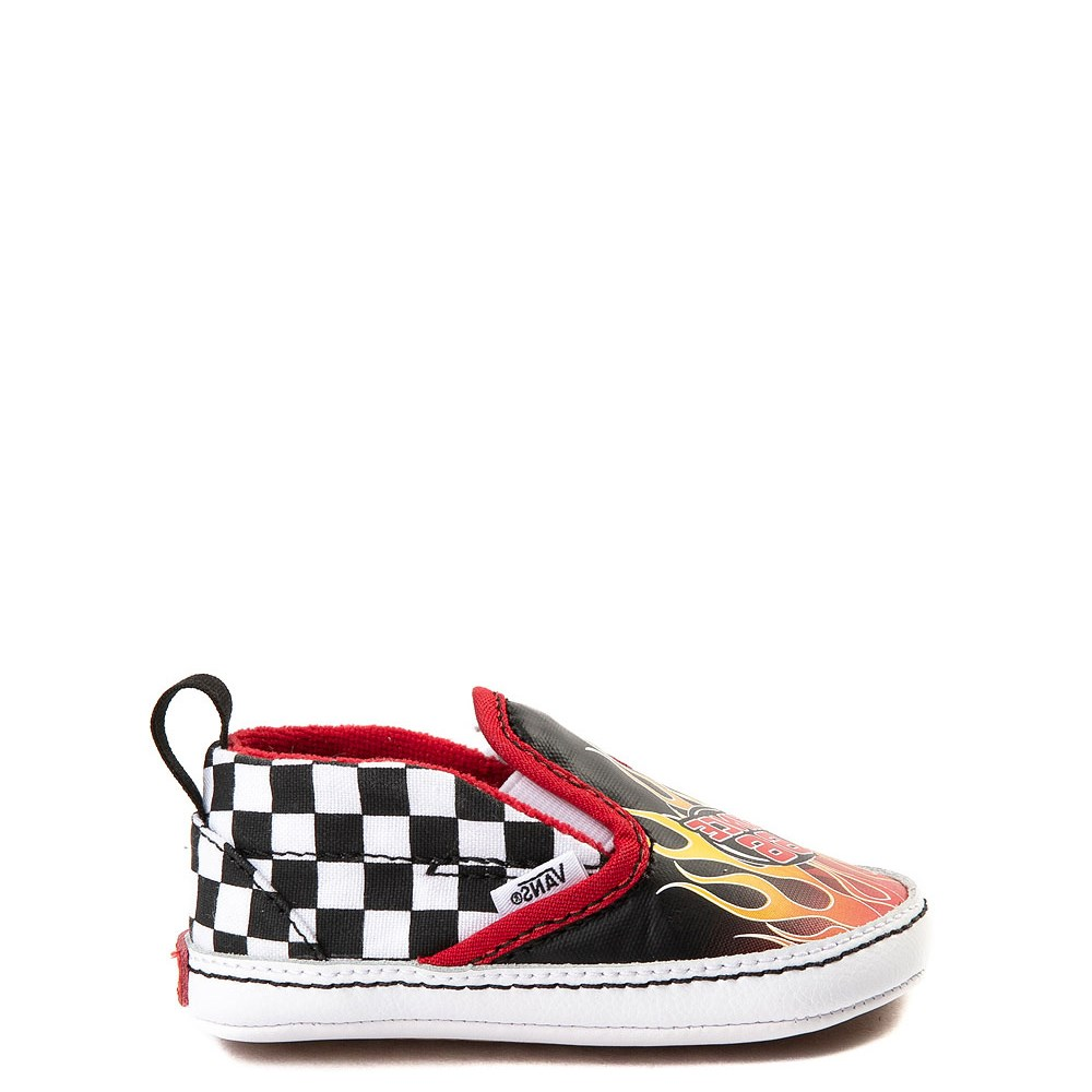 Crib Vans Slip On Race Flame Skate Shoe