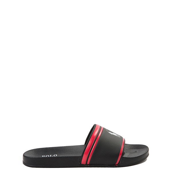 Main view of Quilton Slide Sandal by Polo Ralph Lauren - Little Kid / Big Kid - Black / Red