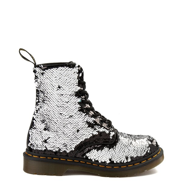 alternate view Womens Dr. Martens Pascal 8-Eye Two-Tone Sequin BootALT1