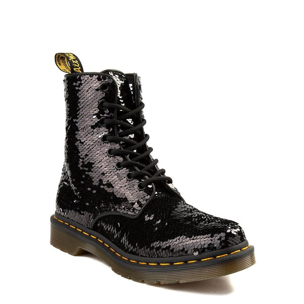 alternate view Womens Dr. Martens Pascal 8-Eye Two-Tone Sequin BootALT1B