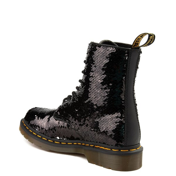 alternate view Womens Dr. Martens Pascal 8-Eye Two-Tone Sequin BootALT2
