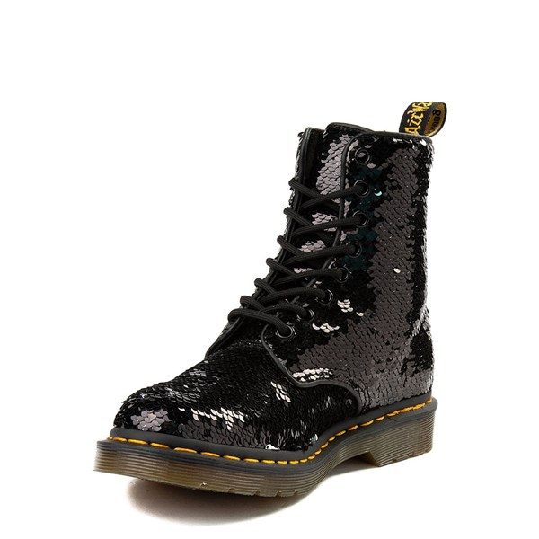 alternate view Womens Dr. Martens Pascal 8-Eye Two-Tone Sequin BootALT3