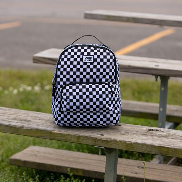alternate view Vans Off the Wall Mini Checkered Backpack - Black / WhiteALT1BB