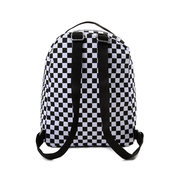 alternate view Vans Off the Wall Mini Checkered Backpack - Black / WhiteALT2