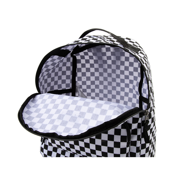 alternate view Vans Off the Wall Mini Checkered Backpack - Black / WhiteALT3