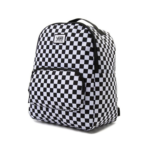alternate view Vans Off the Wall Mini Checkered Backpack - Black / WhiteALT4
