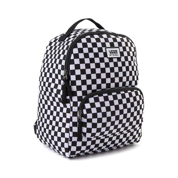alternate view Vans Off the Wall Mini Checkered Backpack - Black / WhiteALT4B